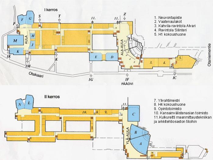 Otakaari 1 Kartta